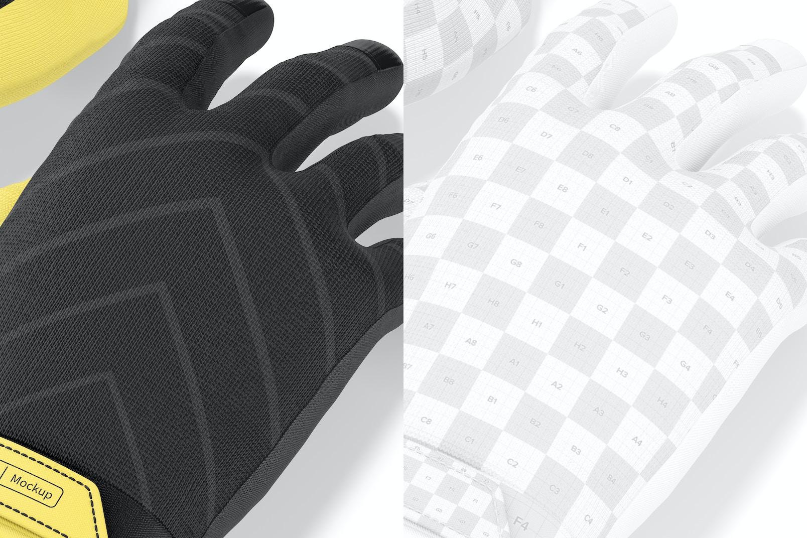Cycling Gloves Mountain Mockup, Close Up