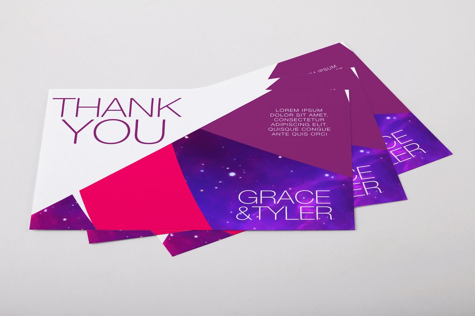 Thank You Card Mini PSD Mockup 01