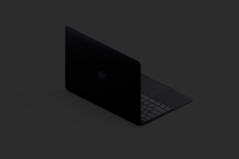 Clay MacBook Mockup, Isometric Back Left View (4) by Original Mockups on Original Mockups
