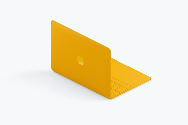 Clay MacBook Mockup, Isometric Back Left View (3) by Original Mockups on Original Mockups