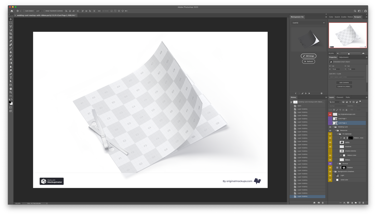 General structure of a Photoshop Mockup