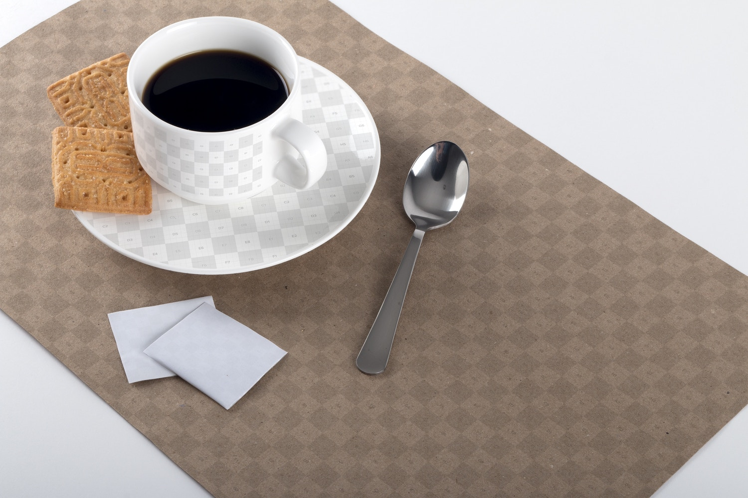 Coffee Cup and Placemat Mockup 02