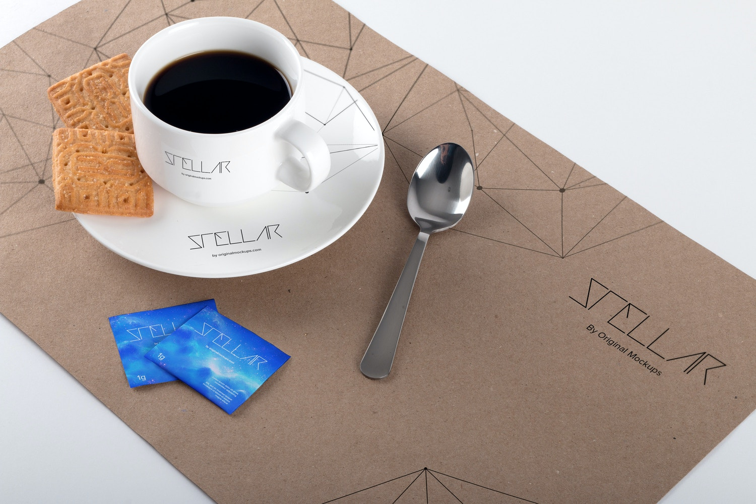 Coffee Cup and Placemat Mockup 02 por Original Mockups en Original Mockups