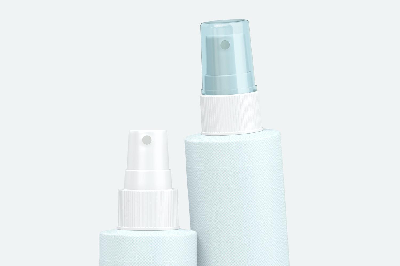 4 oz Pump Spray Bottles Mockup