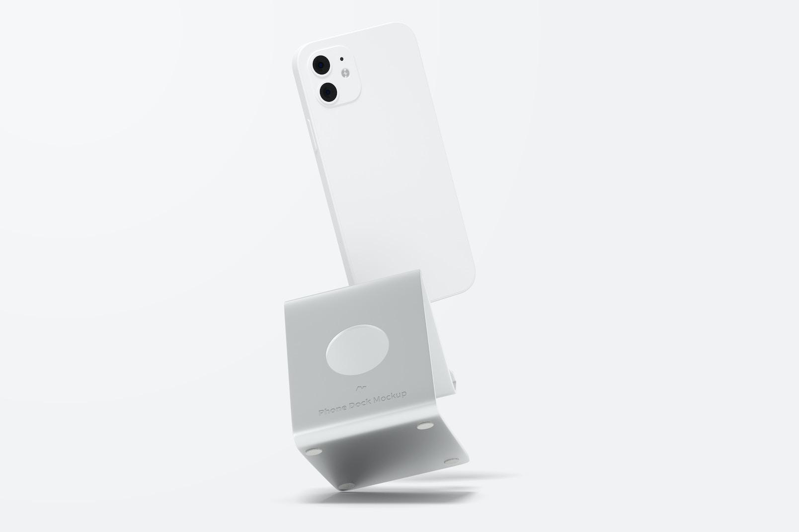 Phone Dock Mockup, Falling