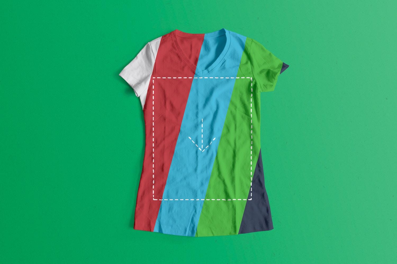 Woman Front T-Shirt Mockup 03