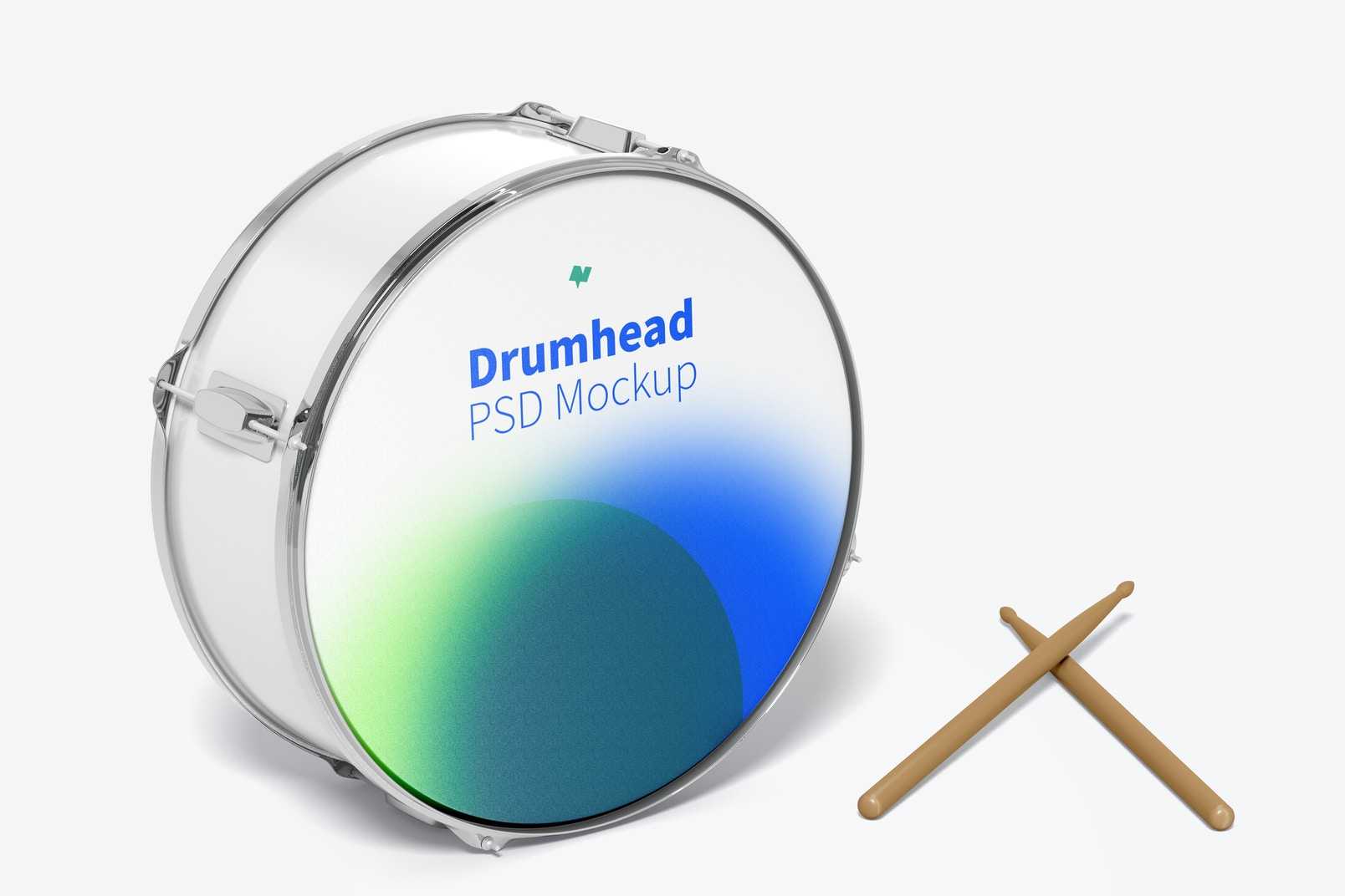 Drumhead Mockup, Front View