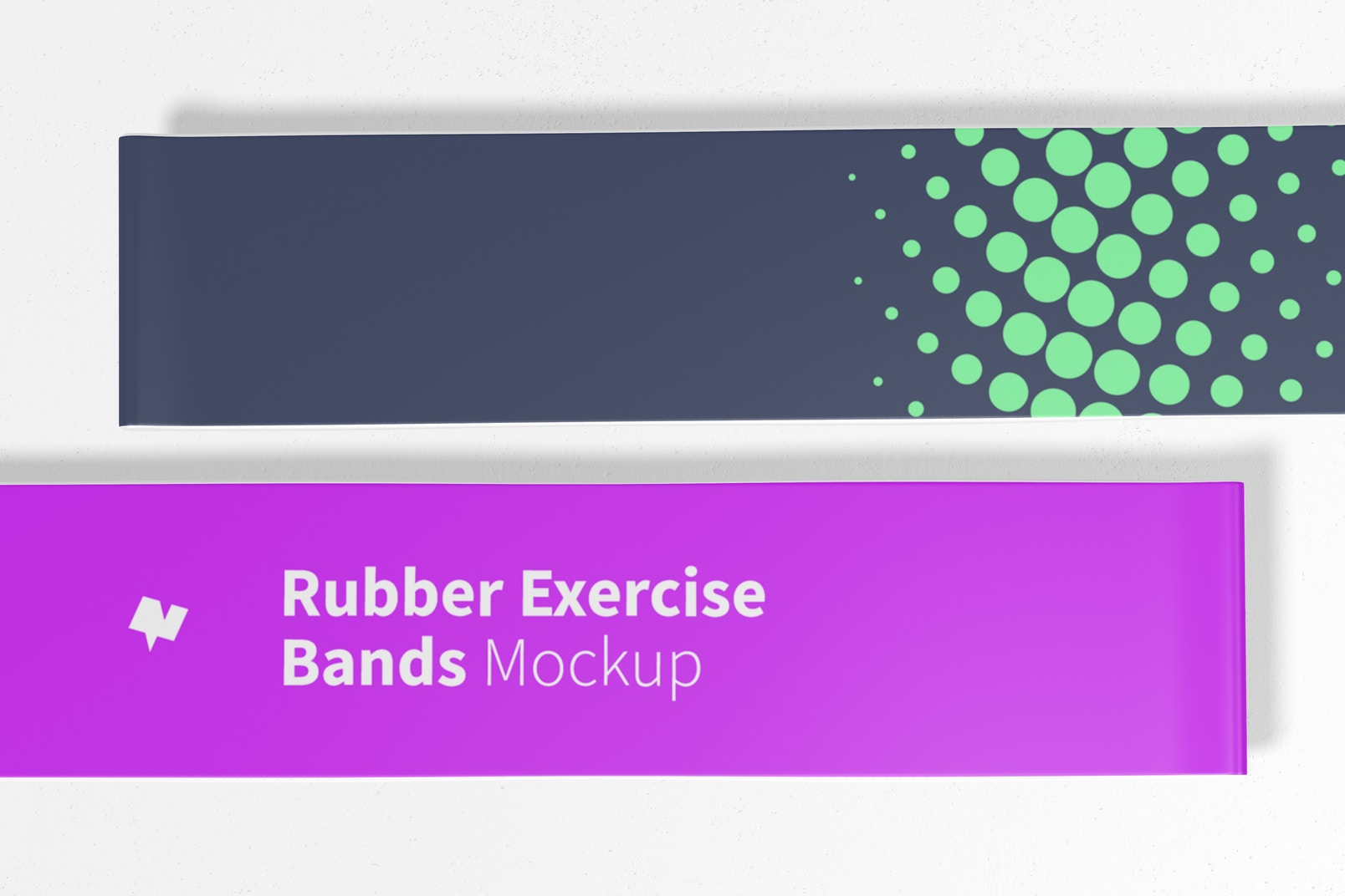 Rubber Exercise Bands Mockup, Close Up