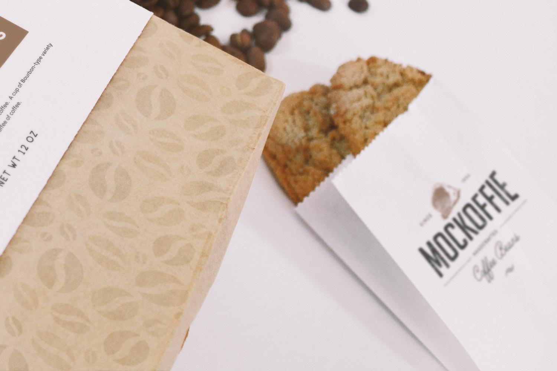 Vista detallada de la bolsa de galletas pequeña.