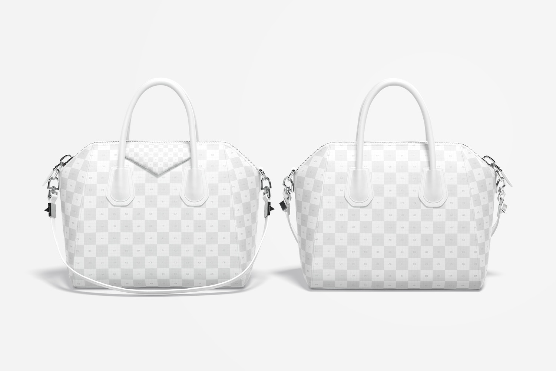 Women's Leather Bag Mockup, Front & Back