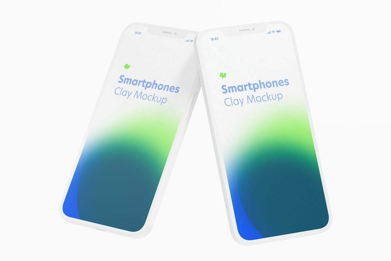 Maqueta de iPhone 12 Multicolor, Flotando