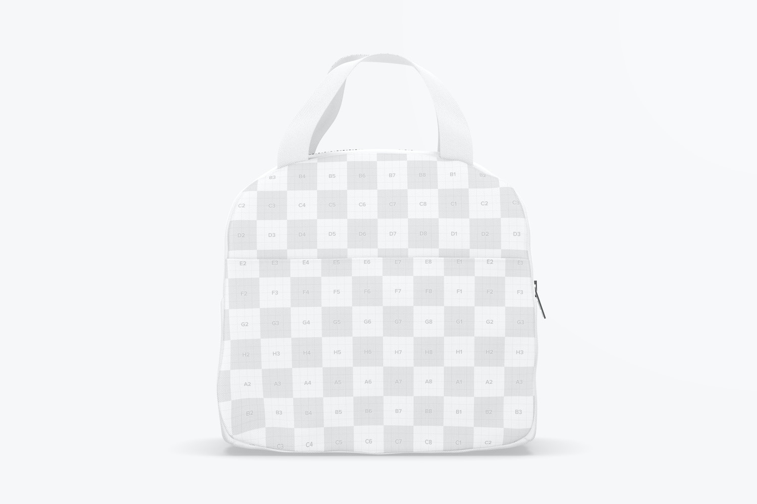 Lunch Bag with Front Pocket Mockup, Front View