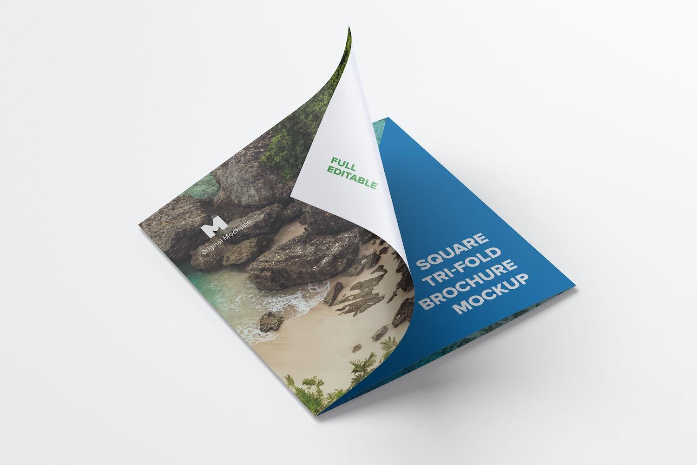 square tri fold brochure mockup 02
