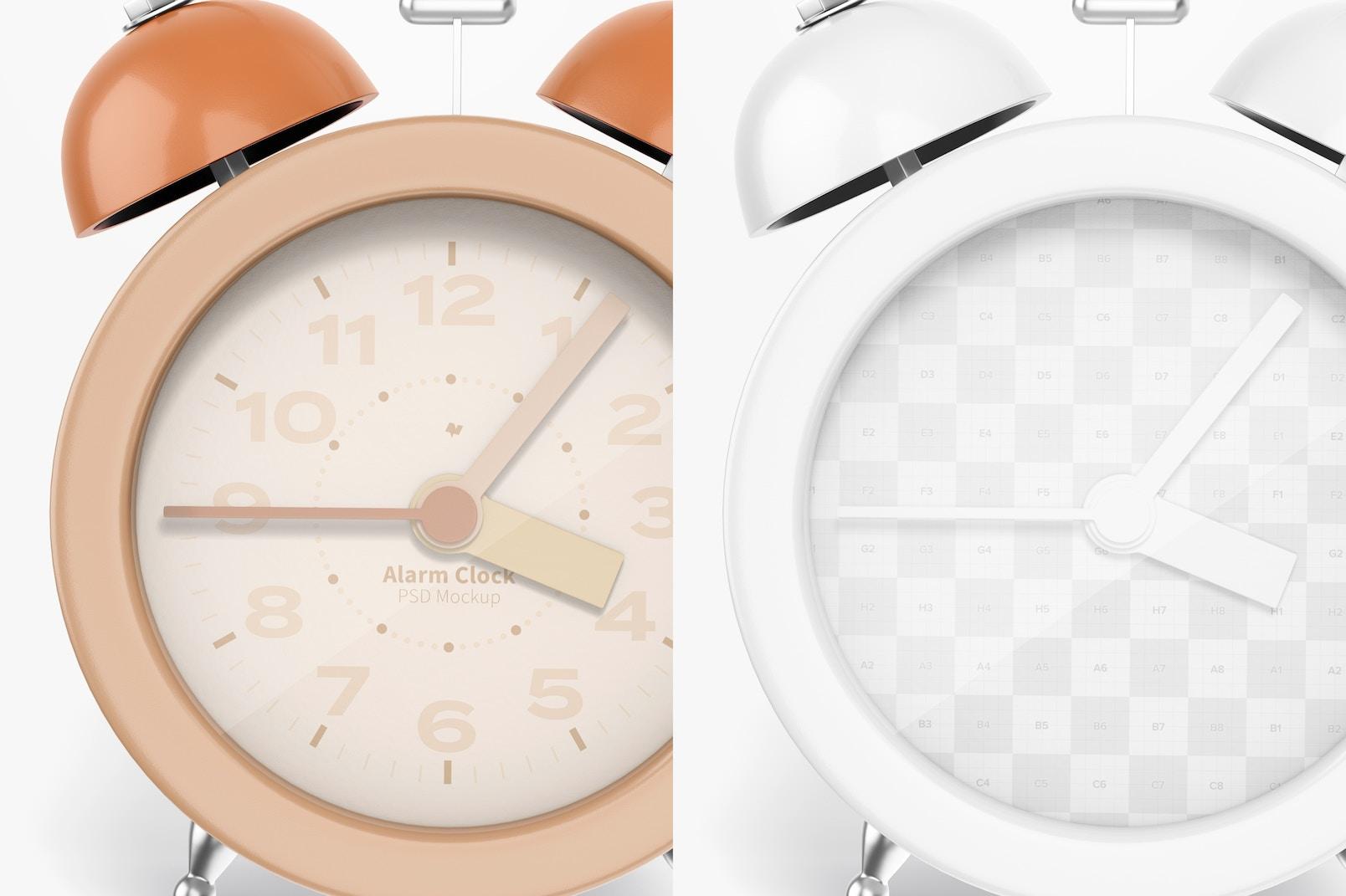 Alarm Clock Mockup, Close Up