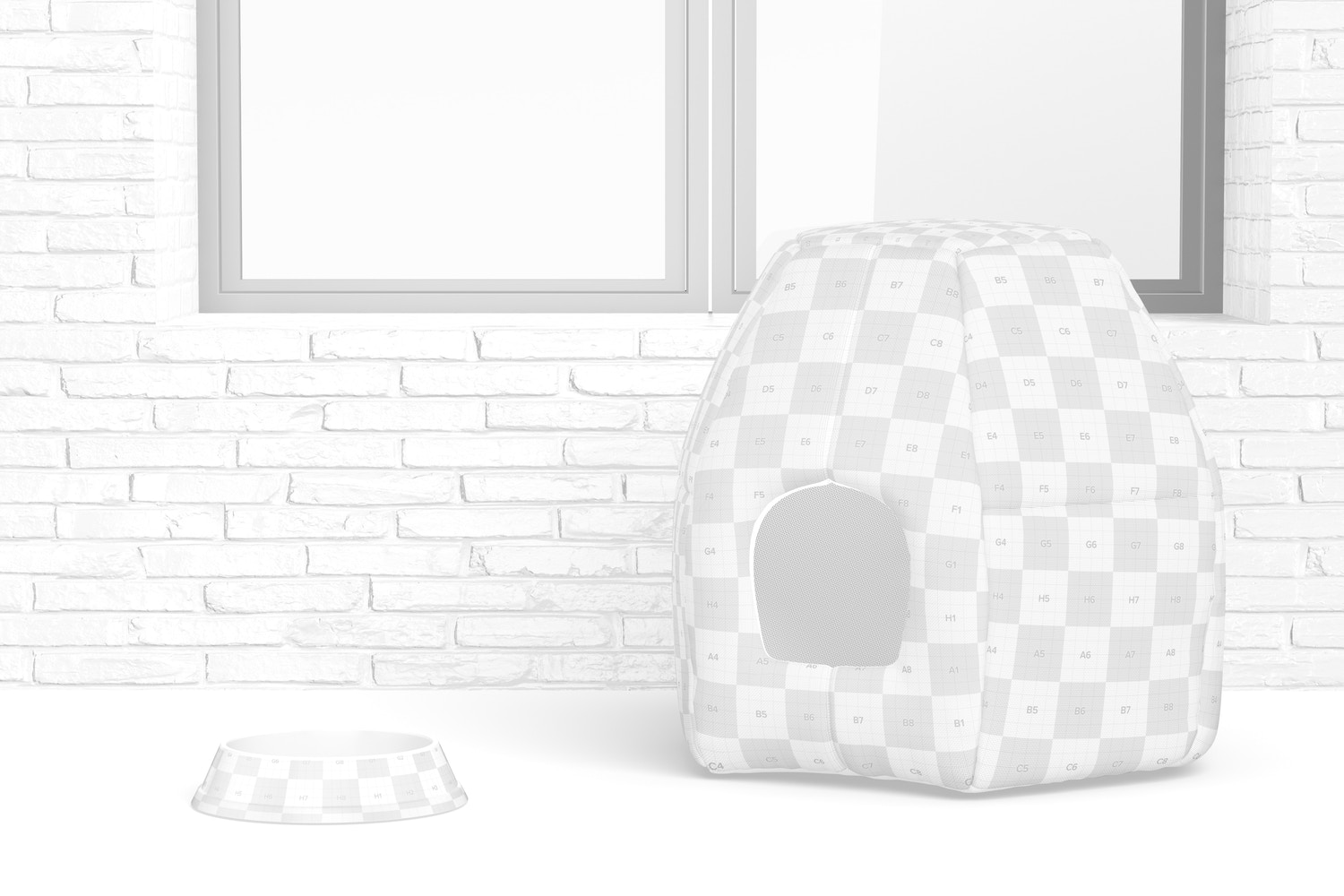 Pet House Mockup, Perspective