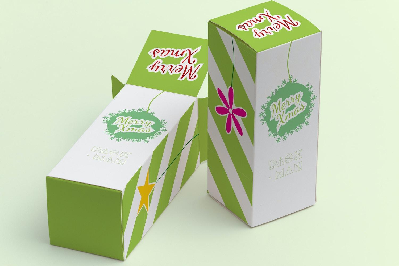Tall Gift Box Mockup 02 by Ktyellow  on Original Mockups