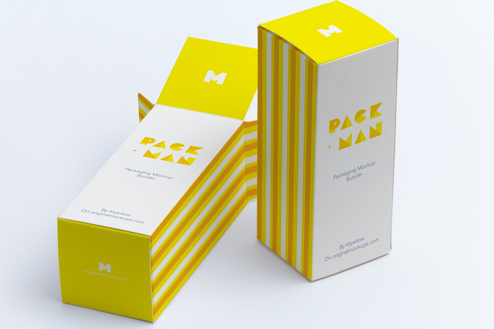 Tall Gift Box Mockup 02