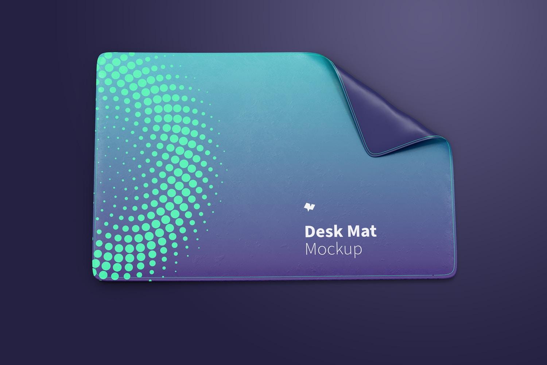 Desk Mat Mockup, Top View