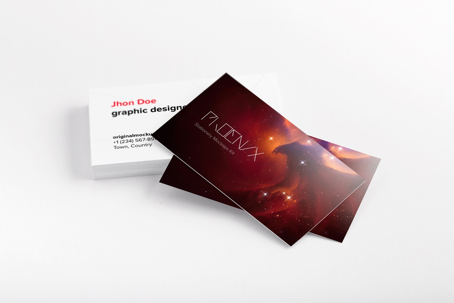 business cards PSD mockup 03