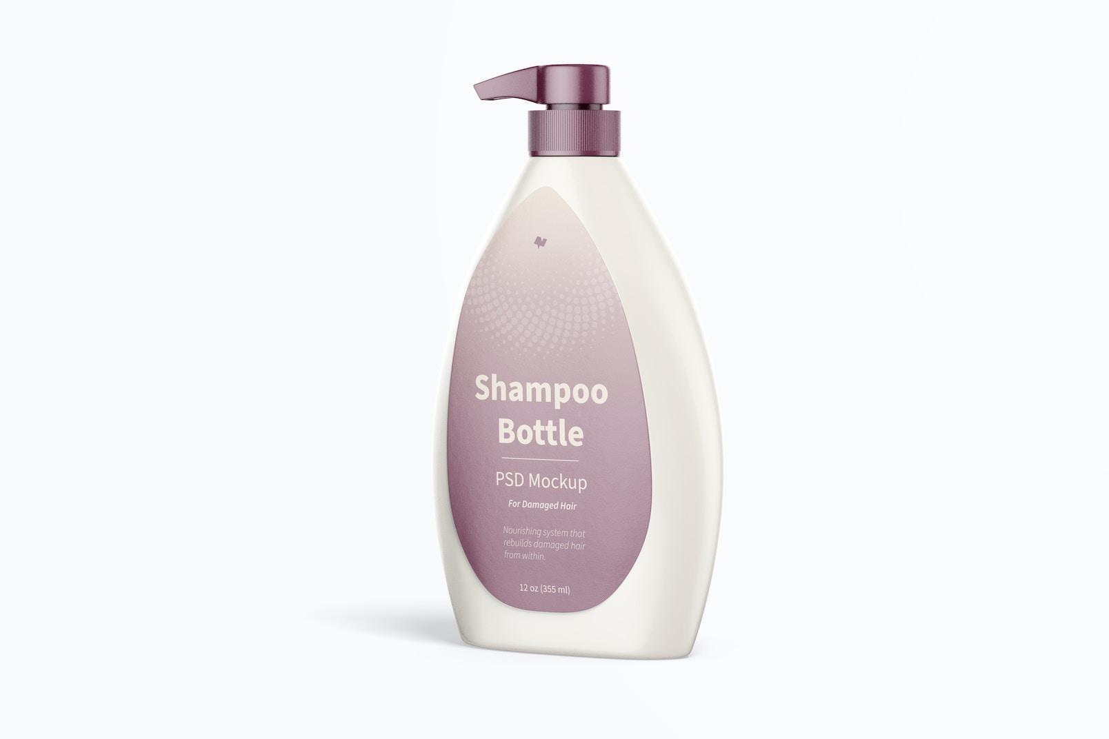 Maqueta de Botella de Shampoo con Dispensador