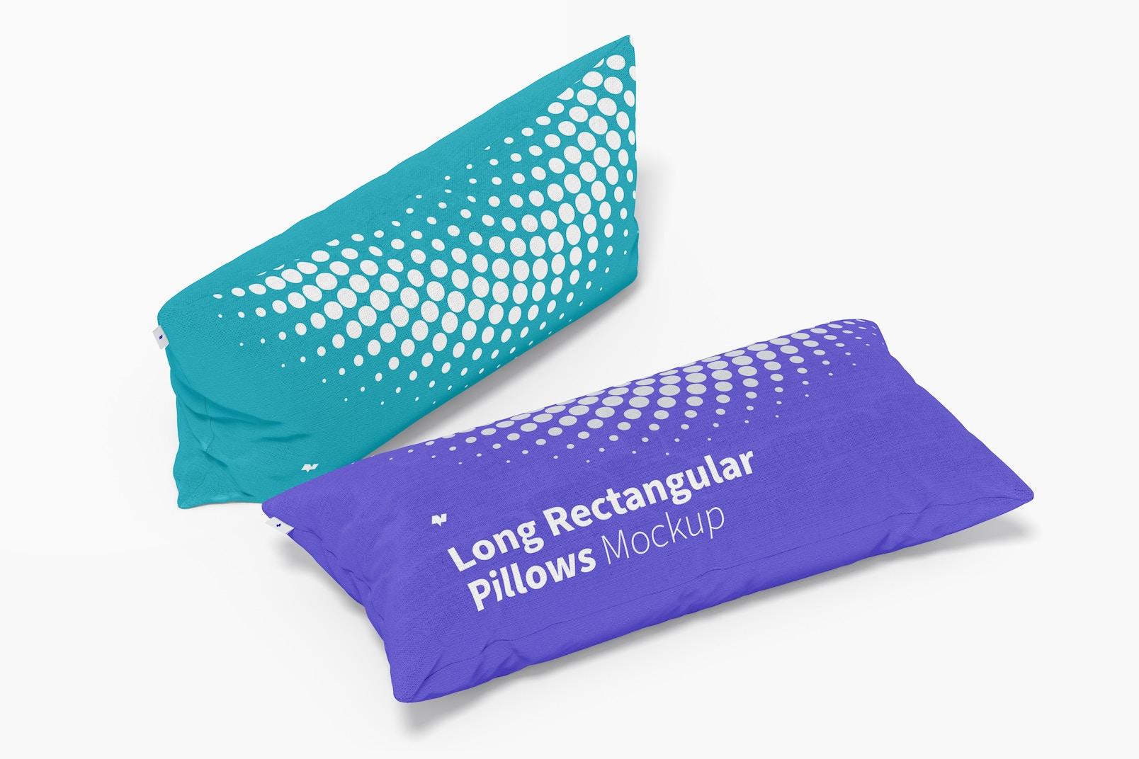 Long Rectangular Pillows Mockup