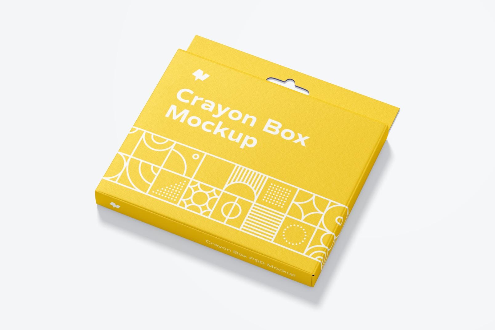 Crayon Box Mockup