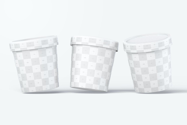 500ml Ice Cream Paper Tub Mockup 05