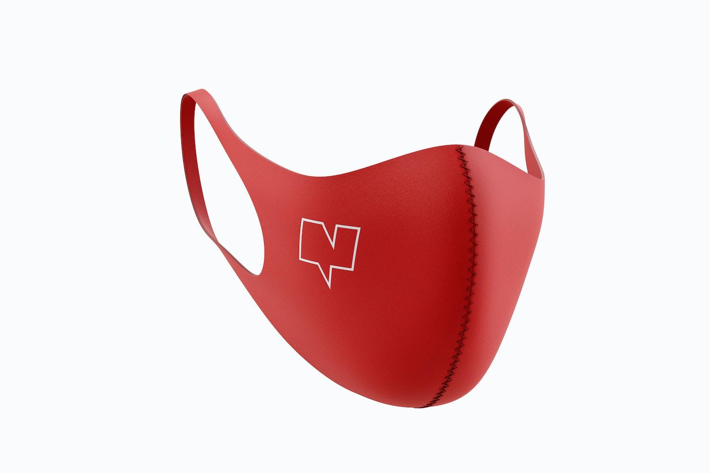 Neoprene Guard Face Mask Mockup, 3/4 Front Left View 02