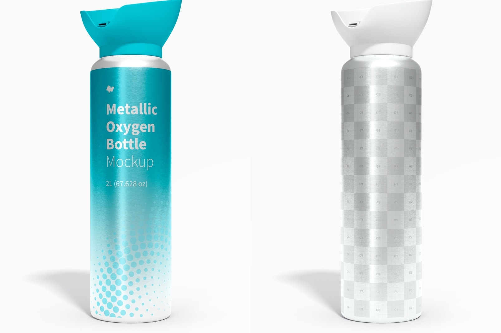 Metallic Oxygen Bottle Mockup