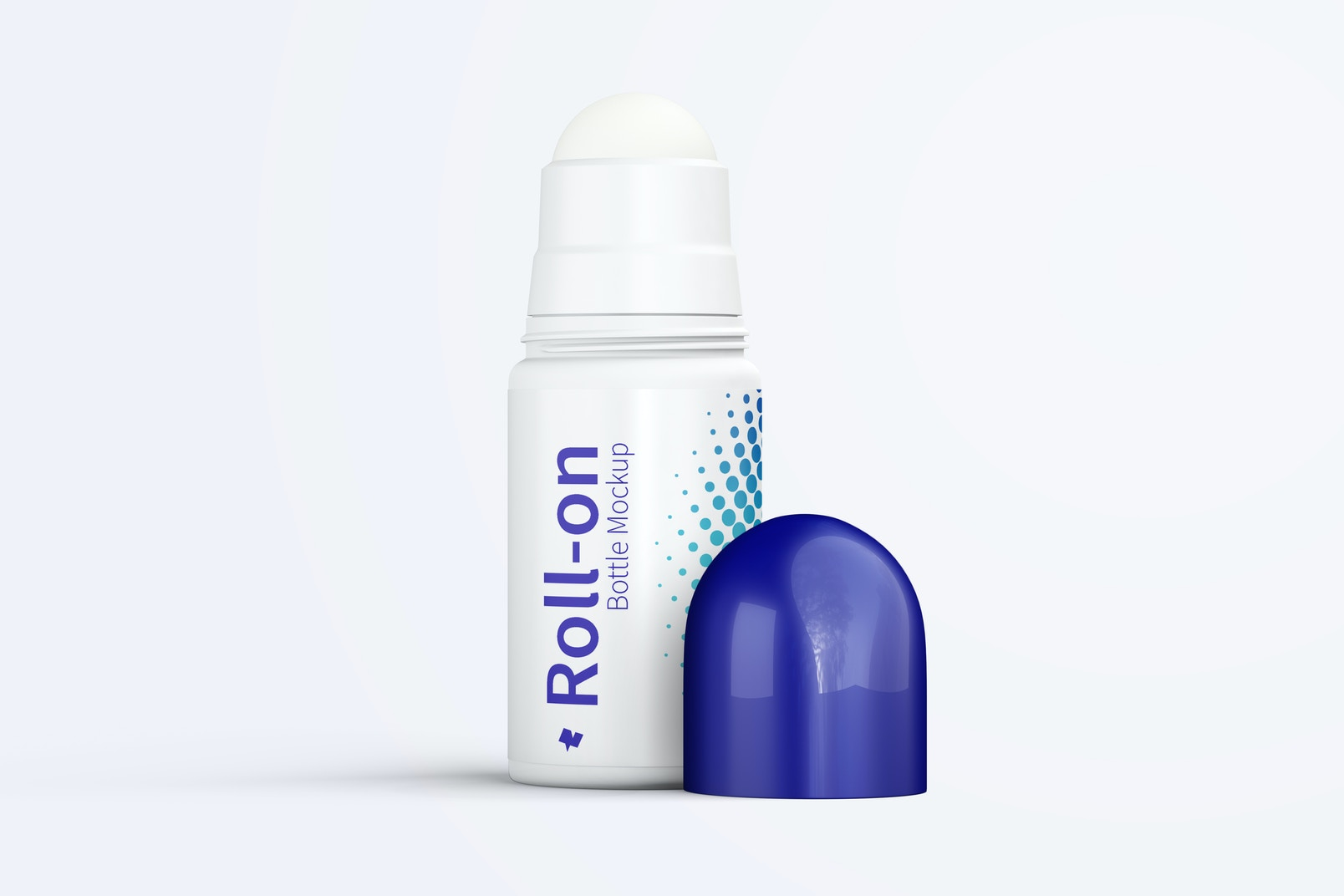 Roll-On Bottle Mockup, Front View
