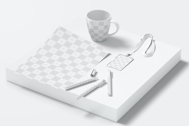 Letterhead and Merchandising Items Mockup