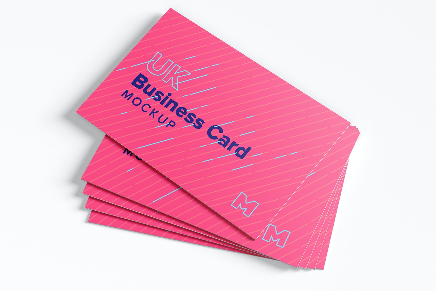 UK Business Cards Mockup 02 by Original Mockups on Original Mockups