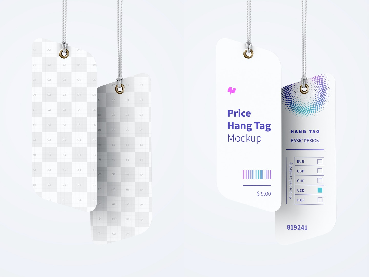 Price Hang Tags Mockup with String 04