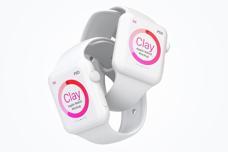 Clay Apple Watch Mockup 07