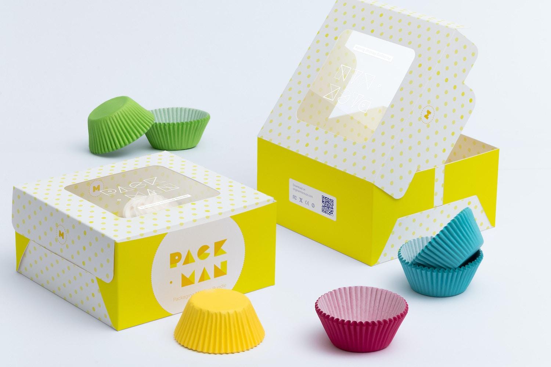 Four Cupcake Box Mockup 04 by Ktyellow  on Original Mockups