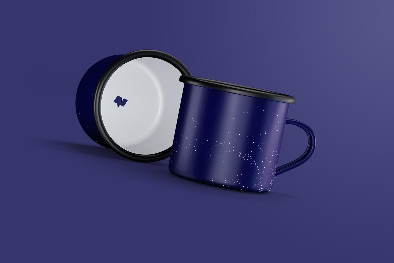 Enamel Mugs Mockup
