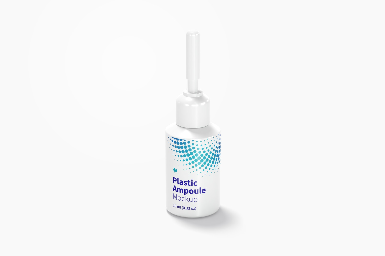 10 ml Plastic Ampoule Mockup