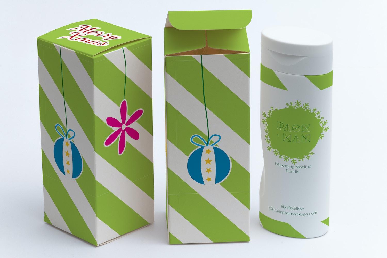 Tall Gift Box Mockup 01