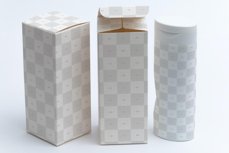 Tall Gift Box Mockup 01 by Ktyellow  on Original Mockups