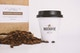 Coffee Bag and Sealed Cup Mockup Close up View
