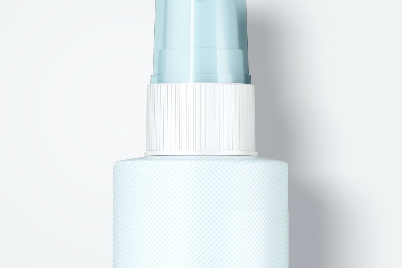 4 oz Pump Spray Bottle Mockup, Top View 02