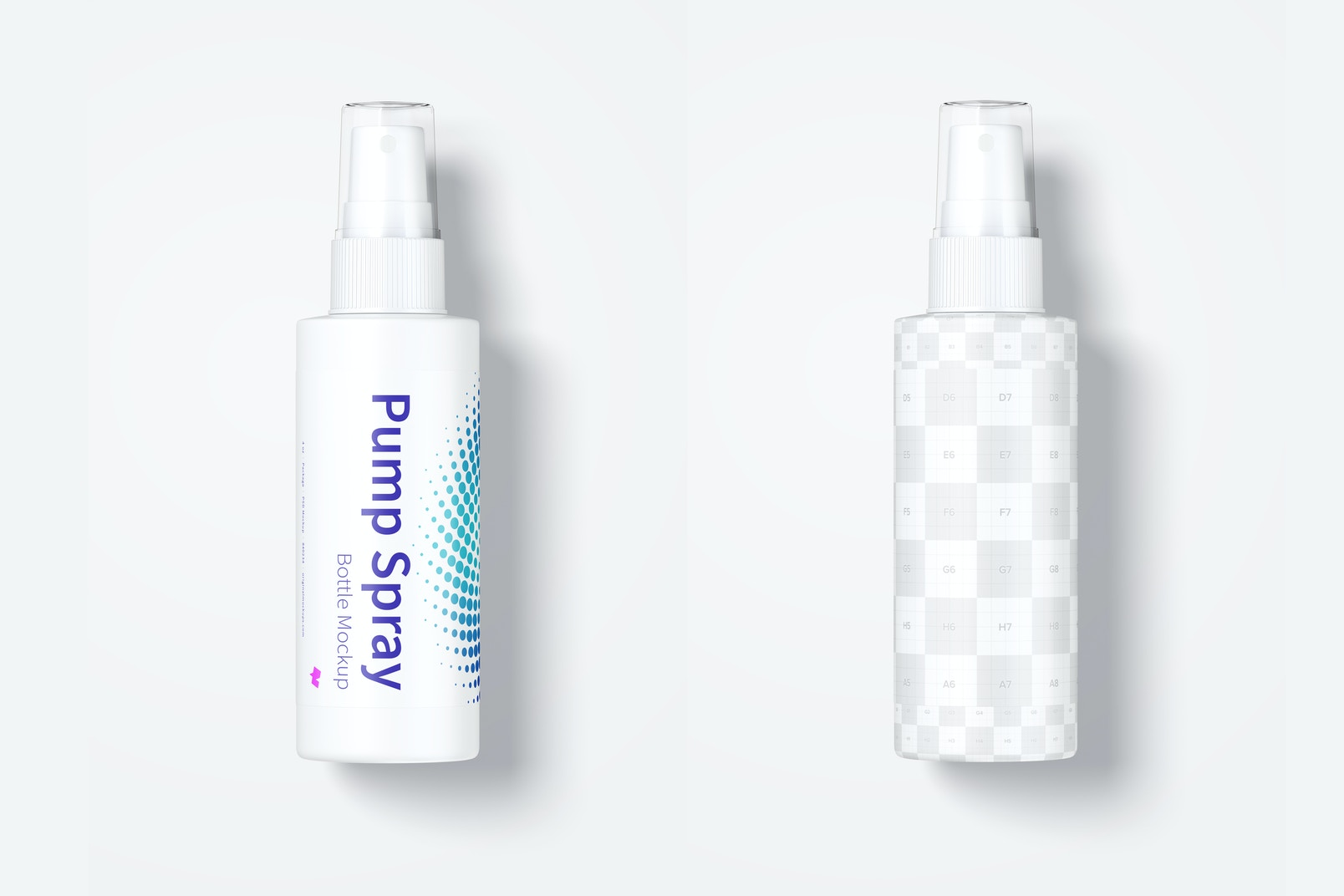 Maqueta de Botella de Spray de 4 oz, Vista Superior 02