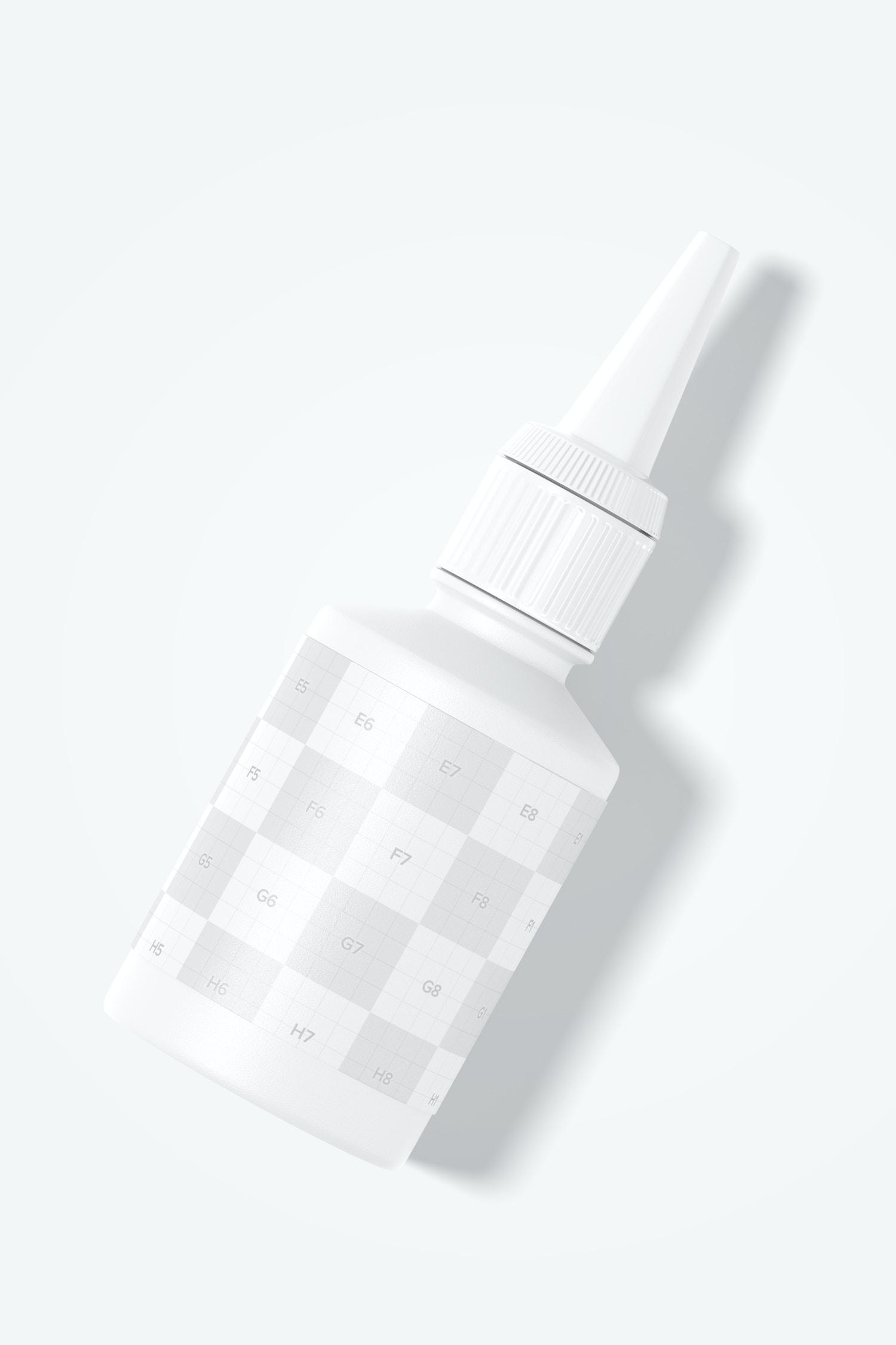 Super Glue Bottle Mockup, Top View