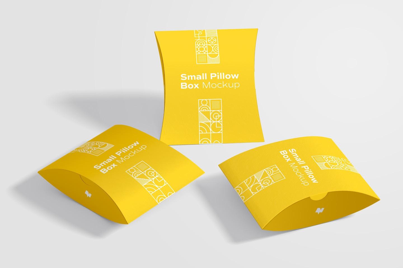 Small Pillow Boxes Set Mockup