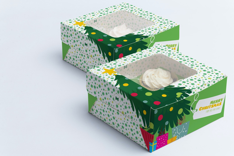 Four Cupcake Box Mockup 03 by Ktyellow  on Original Mockups