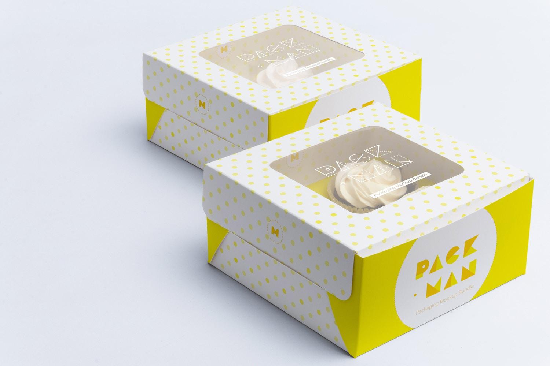 Maqueta para cuatro Cupcakes 03 por Ktyellow  en Original Mockups