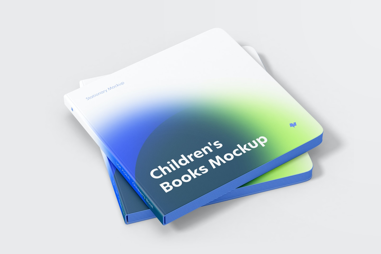 Maqueta de Libro para Niños, Juego Apilado