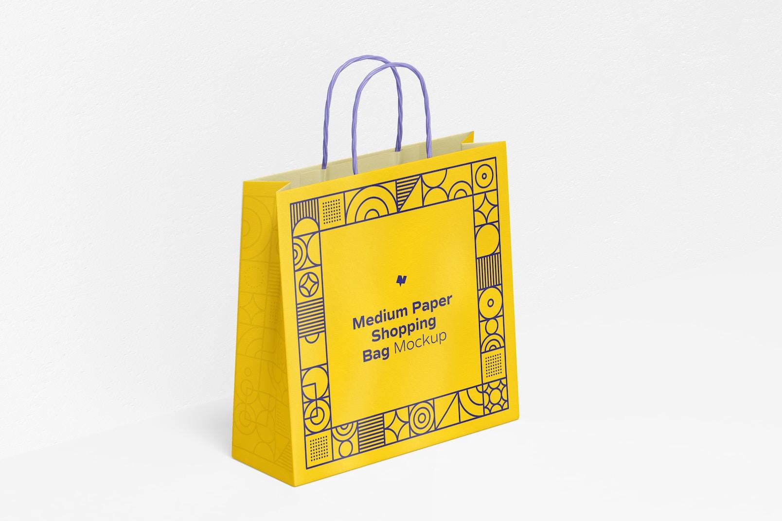 Medium Paper Shopping Bag Mockup
