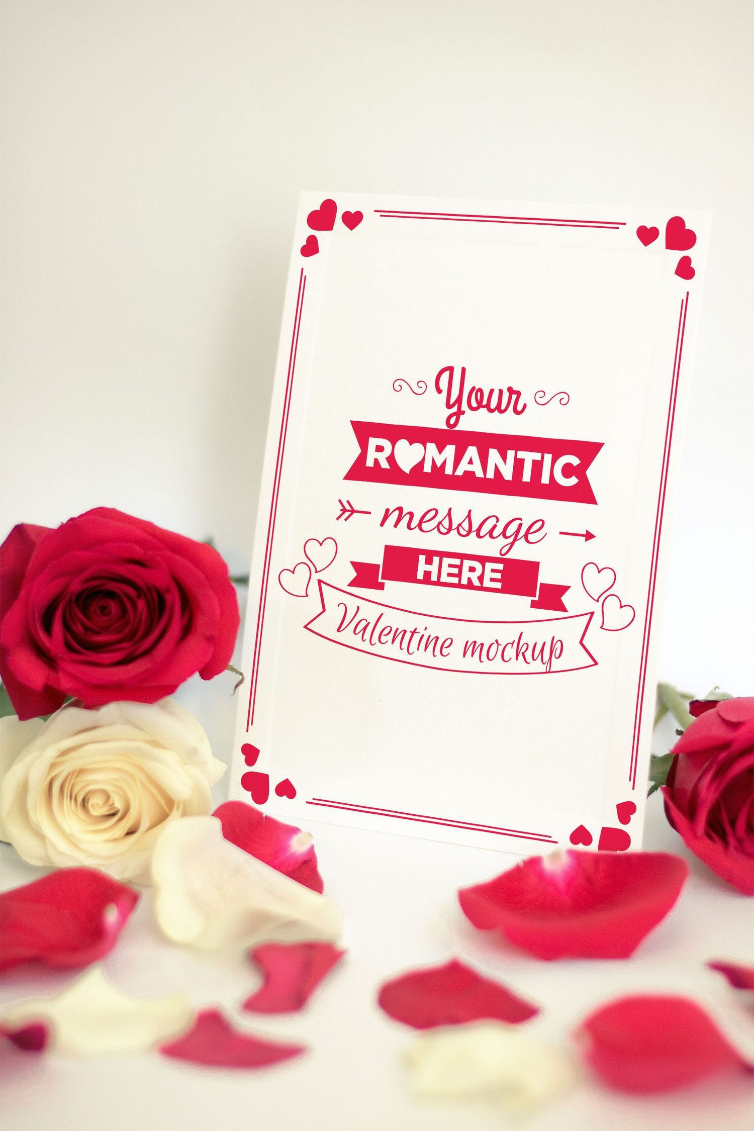 Valentine Card Mockup 06 (1) by Eru  on Original Mockups