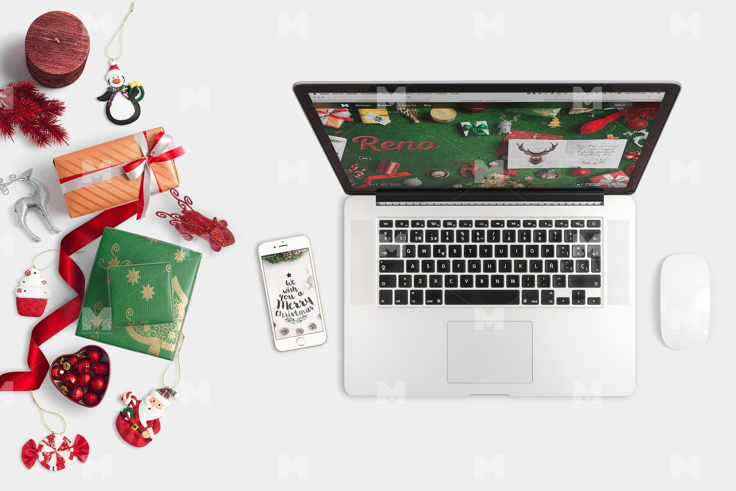 Christmas Header And Hero Scene Mockup 07